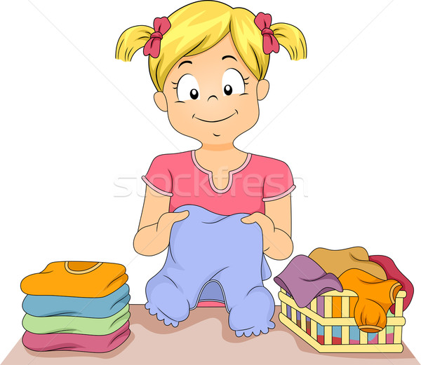 Folding Clothes Stock photo © lenm