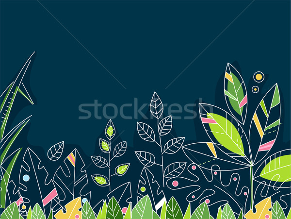Foresta pluviale foglie design illustrazione foresta giungla Foto d'archivio © lenm