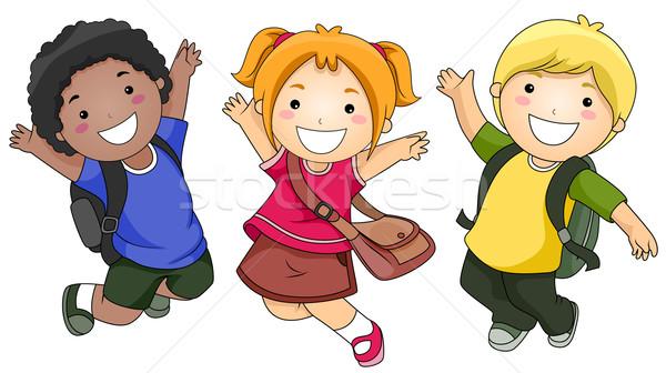 Stock photo: Jumping Students