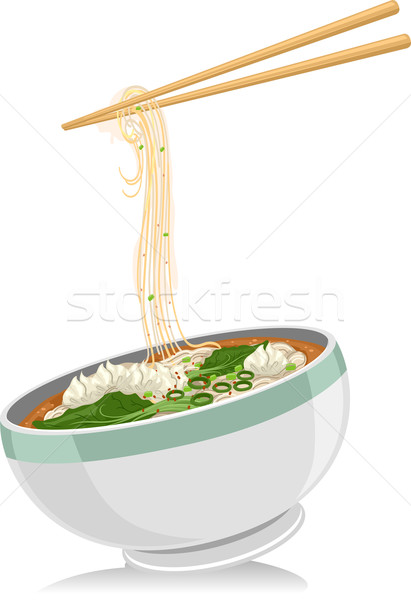 Wonton Noodles Stock photo © lenm