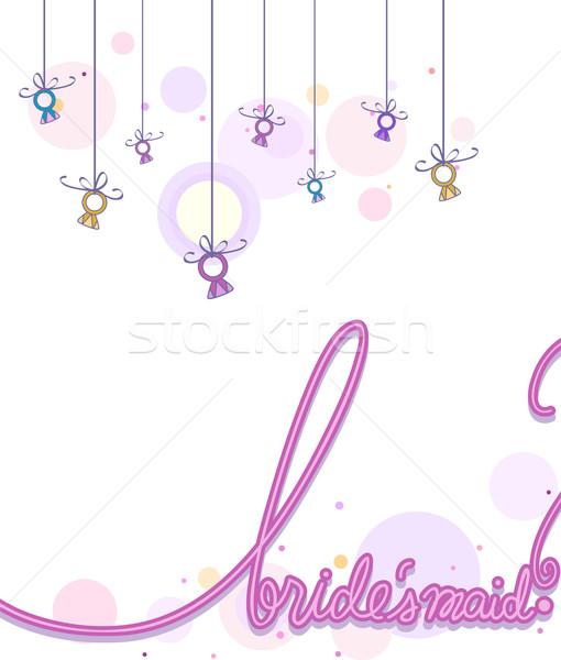 Tarjeta dama de honor ilustración palabra escrito Foto stock © lenm
