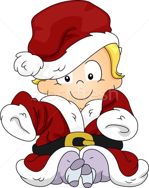 Baby Santa Stock photo © lenm