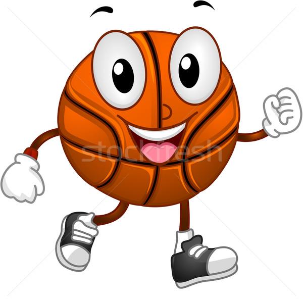 Stock fotó: Kosárlabda · kabala · illusztráció · sétál · játék · atlétika
