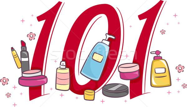 101 ilustração make-up teia cosméticos Foto stock © lenm