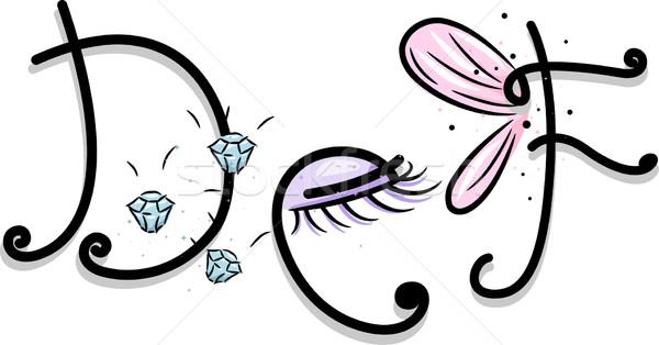 Girly Alphabet Stock photo © lenm