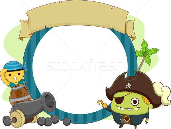 Pirate Monster Theme Stock photo © lenm