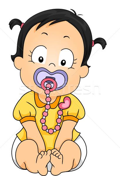 Pacifier Clip Stock photo © lenm