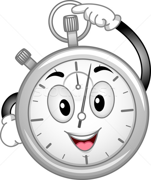 аналоговый секундомер талисман иллюстрация время Сток-фото © lenm