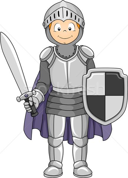 Knight Costume Stock photo © lenm