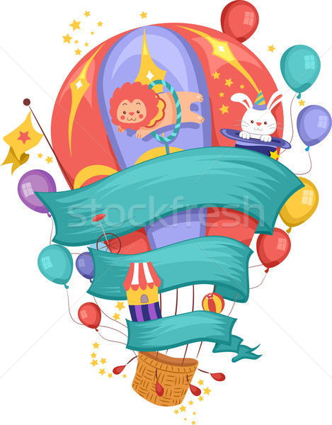 Carnival Air Balloon Stock photo © lenm