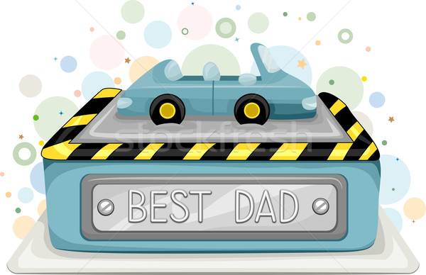 Best Dad Cake Stock photo © lenm
