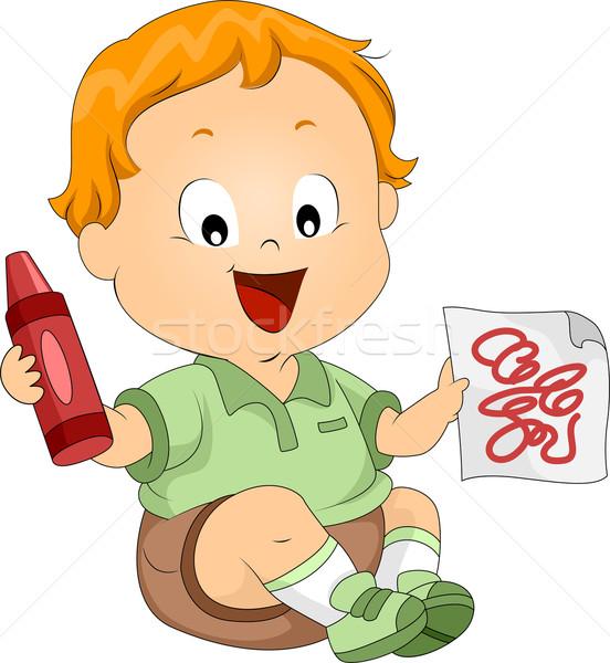 Toddler Doodles Stock photo © lenm