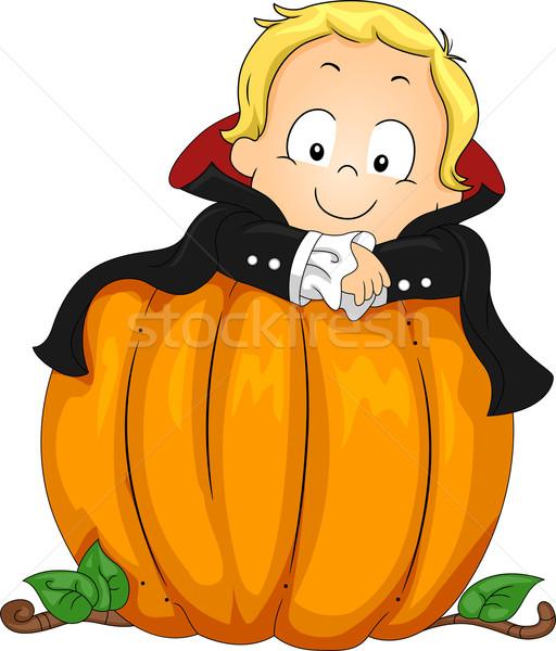 Baby vampier illustratie kind kid vakantie Stockfoto © lenm