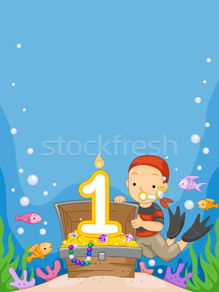 Underwater Birthday Stock photo © lenm