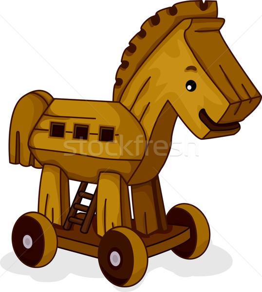 Wooden Horse Stock photo © lenm