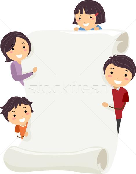 Family Banner Stock photo © lenm