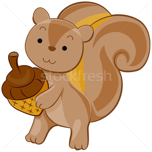 Cute Squirrel Stock photo © lenm