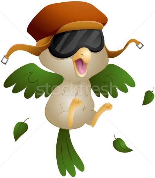 Piloot vogel af hoed Stockfoto © lenm