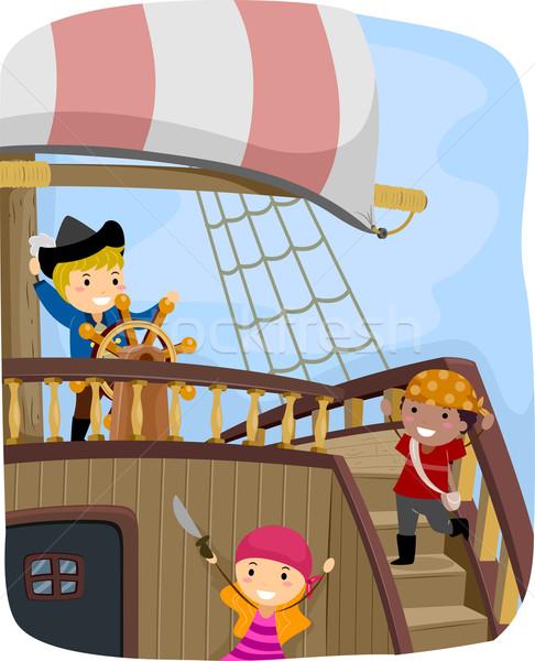 Pirate Ship Stock photo © lenm