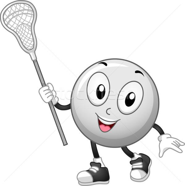 Lacrosse Ball Mascot Stock photo © lenm