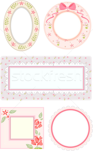 Shabby Chic Frames Stock photo © lenm