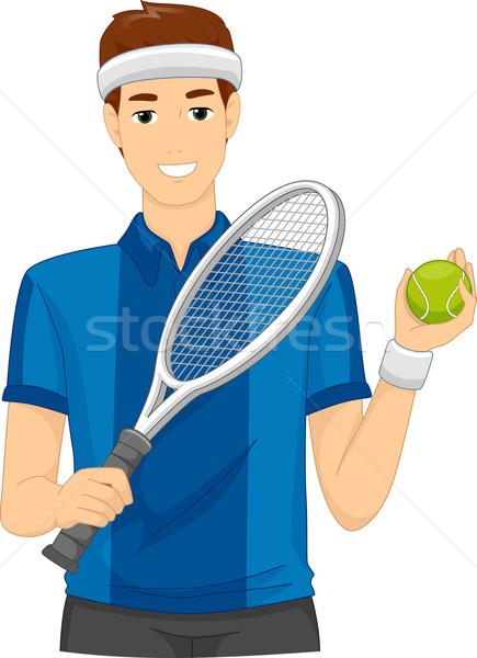 Lawn Tennis Player Stock photo © lenm
