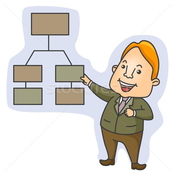 Organizational Chart Stock photo © lenm