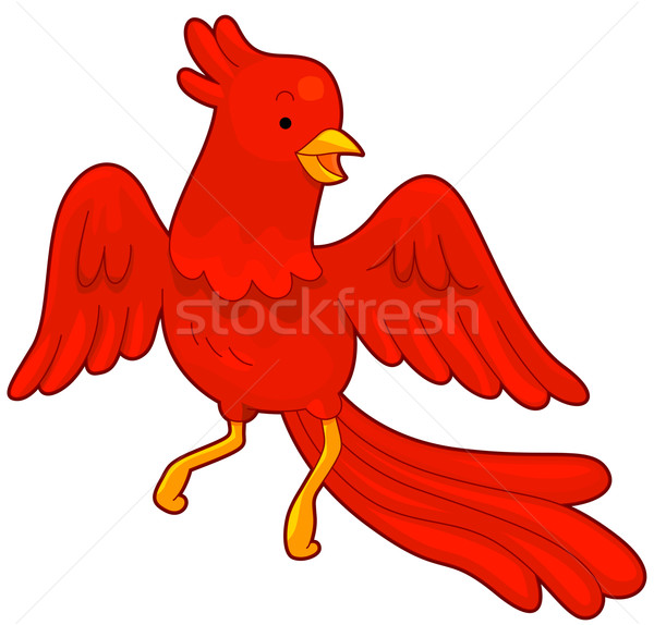 Phoenix illustratie Rood vlucht vliegen clipart Stockfoto © lenm