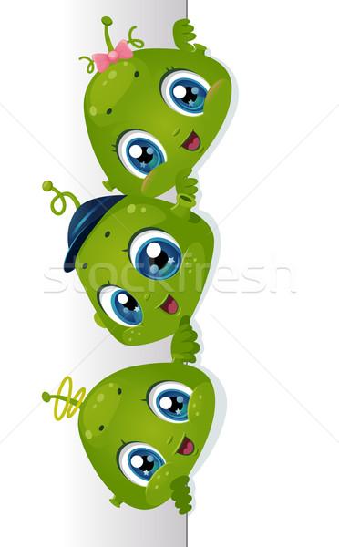 Conselho ilustração bonitinho pequeno crianças crianças Foto stock © lenm