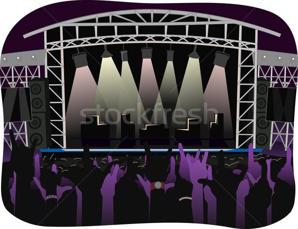 Concierto noche ilustración aire libre etapa Foto stock © lenm