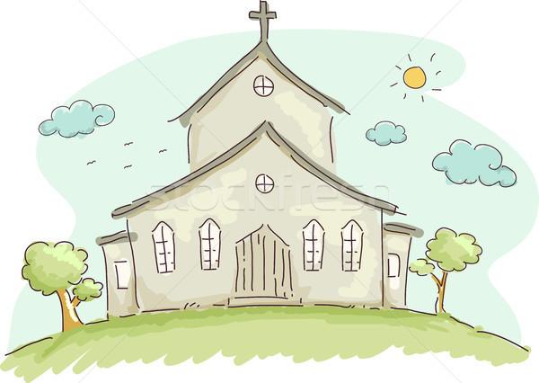 Church Doodle Stock photo © lenm