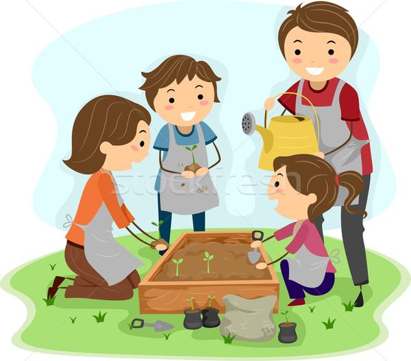 Family Planting Stock photo © lenm