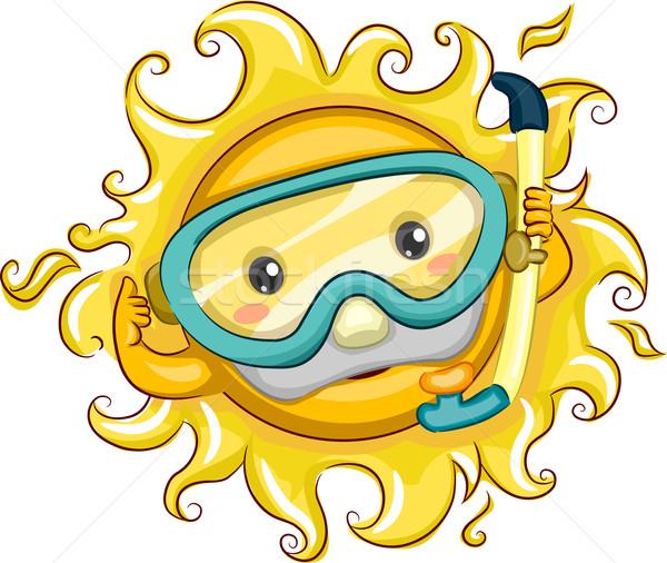 Sun Snorkeler Stock photo © lenm