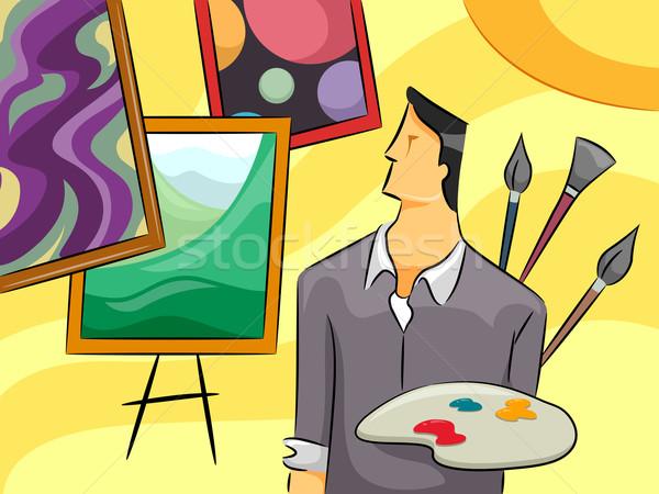 Painter Guy Stock photo © lenm