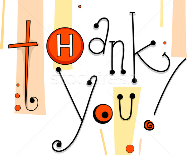 Thank You Card Buttons Stock photo © lenm