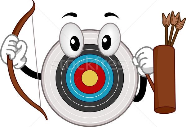 マスコット アーチェリー ボード 実例 スポーツ ターゲット ストックフォト © lenm