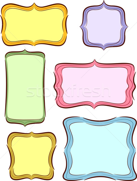 Colored Sketch Labels  Stock photo © lenm