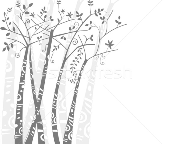 Abstract Trees Design Stock photo © lenm