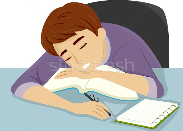 Guy Dozing Off to Sleep Stock photo © lenm