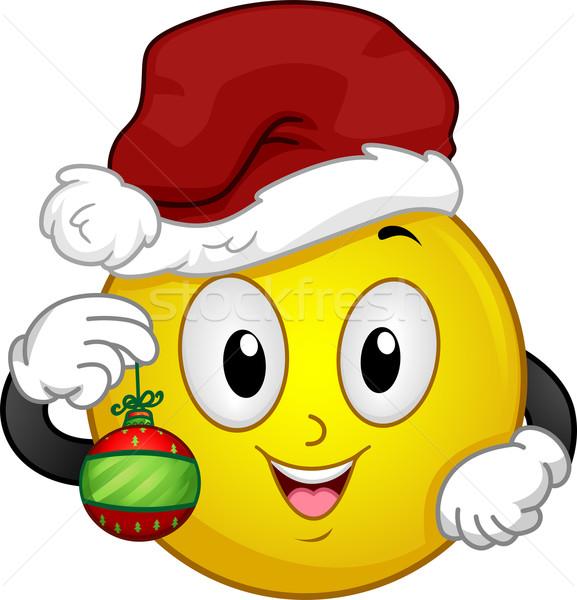 ストックフォト: サンタクロース · スマイリー · 実例 · 着用 · クリスマス · 帽子