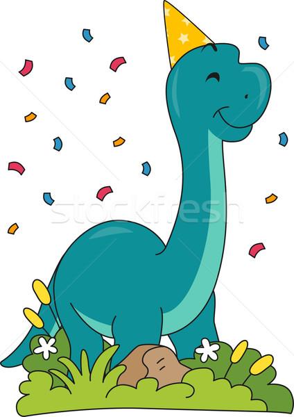 Birthday Brontosaurus Stock photo © lenm