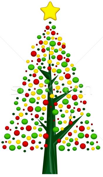 Christmas Tree Design Stock photo © lenm