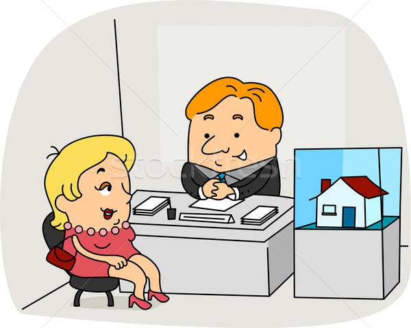 иллюстрация работу бизнеса женщины мужчины Сток-фото © lenm