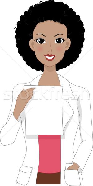 Médicos prescrição ilustração leitura trabalhar medicina Foto stock © lenm