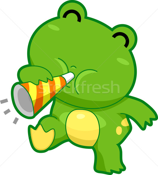 żaba hałasu ilustracja szczęśliwy zwierząt Zdjęcia stock © lenm