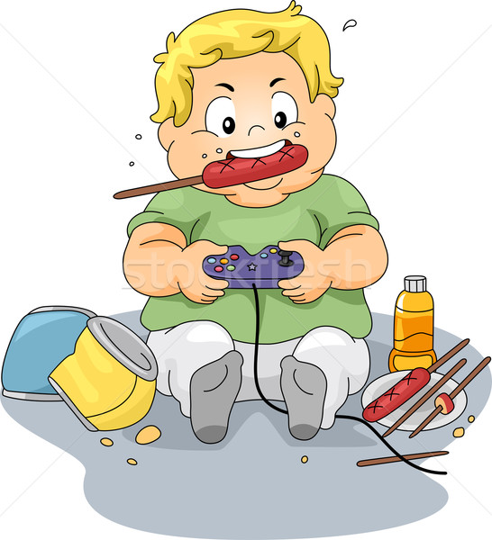 Overweight Gamer Stock photo © lenm