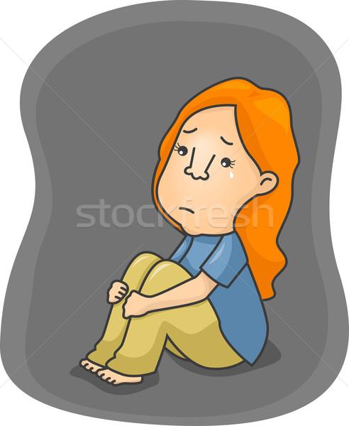 Depressed Girl Stock photo © lenm
