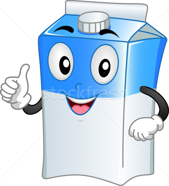 Milk Carton Mascot Stock photo © lenm