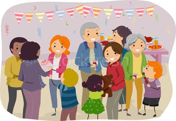 Family Party Stock photo © lenm