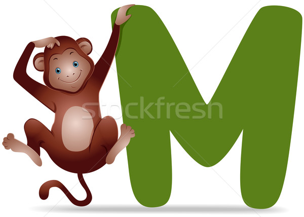 M for Monkey Stock photo © lenm